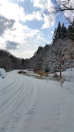 20160116山へ向かう途中の様子峠道2