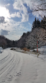 20160116山へ向かう途中の様子峠道3