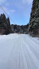 20160116山からの帰り道の様子峠道