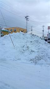20160210山へ向かう途中の様子雪の山