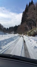 20160211山へむかう途中の様子峠道1