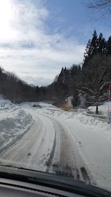 20160211山へむかう途中の様子峠道2