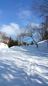 20160211ラベンダーの畑へと続く急な坂道の様子2