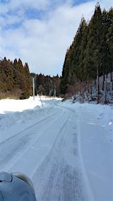 20160211山からの帰り道の様子峠道