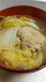 20160211ハクサイと豆富の肉団子スープ