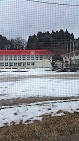 20160229山へ向かう途中の様子上北手小学校校庭