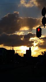 20160312外の様子夕焼け