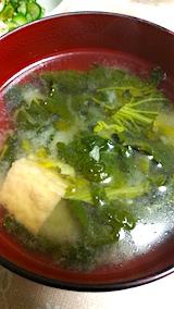 20160312晩ご飯青菜のみそ汁