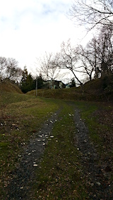 20160320ラベンダーの畑へと続く急な坂道の様子