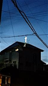 20160515山からの帰り道の様子教会