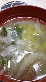 20160628お昼ご飯ハクサイとタマネギのスープ