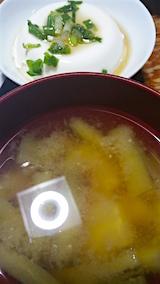 20160707晩ご飯ナスとジャガイモのみそ汁