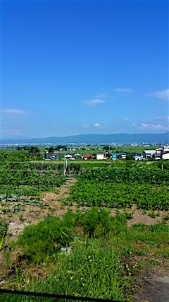 20160711八木沢地区より会津盆地を望む