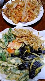 2016071晩ご飯野菜の天ぷら