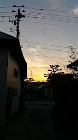 20160712外の様子夕方夕日