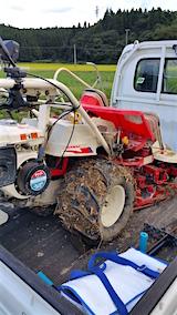 20160909手押し式稲刈り機による稲刈り6