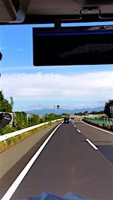 20160911秋田自動車道より白神山地を望む