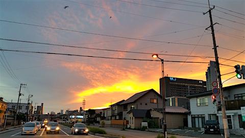 20160911外の様子夕焼け空2
