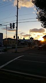 20161007外の様子夕方