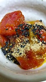 20161012晩ご飯マグロのユッケ