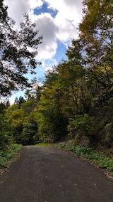 20161027山へ向かう途中の様子峠道