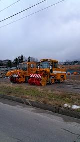 20161202山からの帰り道の様子除雪車