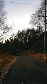 20161203山へ向かう途中の様子峠道2
