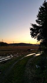 20161203山の様子素晴らしい夕焼け空