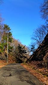 20161204山からの帰り道の様子峠道