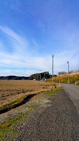 20161204山からの帰り道の様子田んぼ