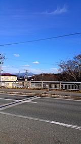 20161204山からの帰り道の様子桜大橋より太平山を望む