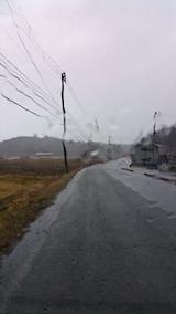 20161205山からの帰り道の様子雨が降り出す