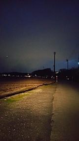 20161206山からの帰り道の様子田んぼ道