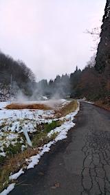20161207山へ向かう途中の様子峠道