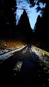20161207山からの帰り道の様子峠道