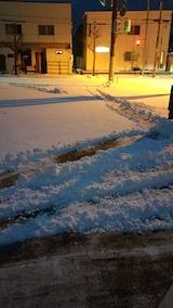 20170112雪寄せ途中の様子