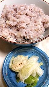 20170121晩ご飯十六穀米