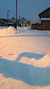 20170209駐車場雪寄せ前