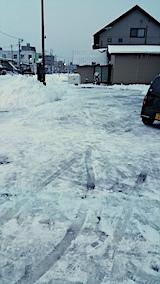 20170209駐車場雪寄せ後1