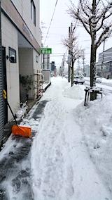 20170210歩道雪寄せ途中の様子