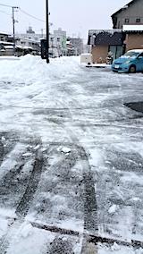 20170210駐車場雪寄せ後