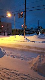 20170211外の様子朝雪寄せ前