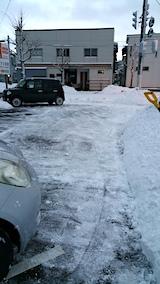 20170211駐車場雪寄せ後朝1