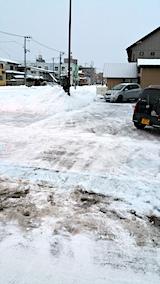 20170211駐車場雪寄せ後朝3