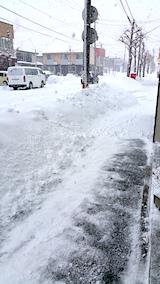 20170211歩道雪寄せ後朝
