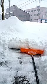 20170211歩道の雪寄せ途中の様子昼過ぎ