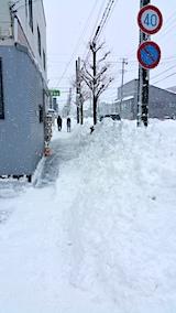 20170211お店横の駐車場と歩道の雪寄せ後昼過ぎ