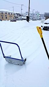 20170211駐車場の雪寄せ前の様子昼過ぎ1