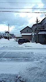 20170219外の様子朝雪寄せ後3