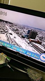 20170219昼過ぎの秋田市内の様子NHKテレビ